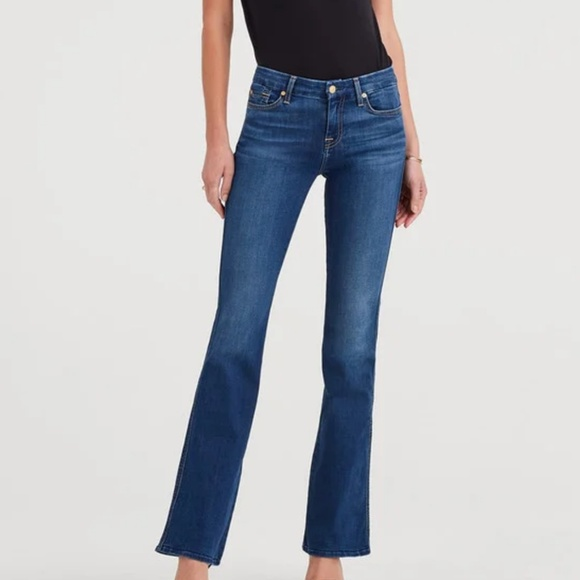 7 For All Mankind Denim - 7 For All Mankind A Pocket Blue Jeans